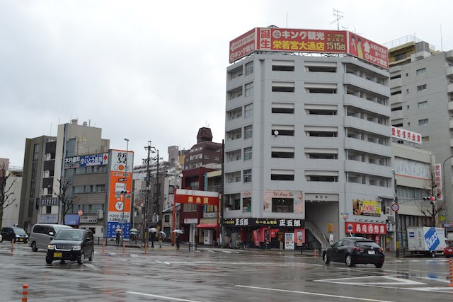 大須観音「表参道」の門がある西大須交差点