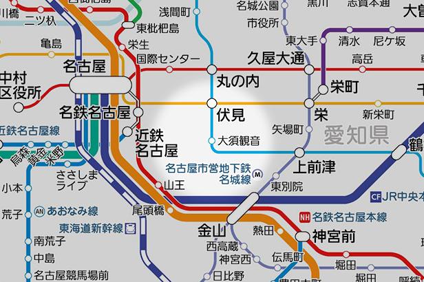 大須観音の路線図