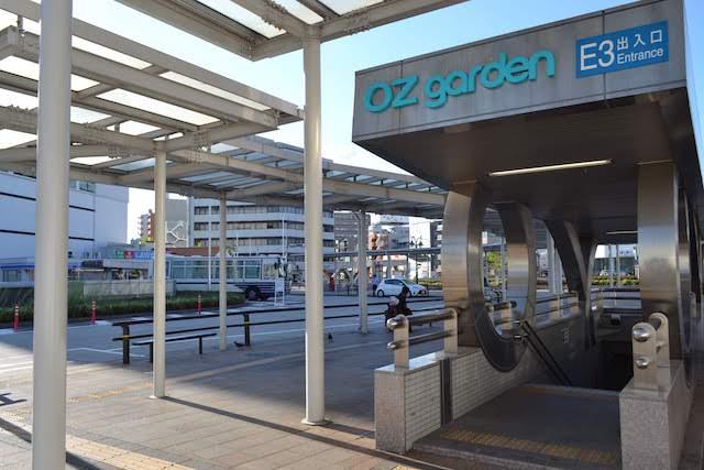 大曽根駅北口の西側駅前にある地下街「オズガーデン」