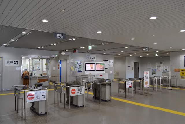 ゆとりーとライン大曽根駅改札口と定期券うりば
