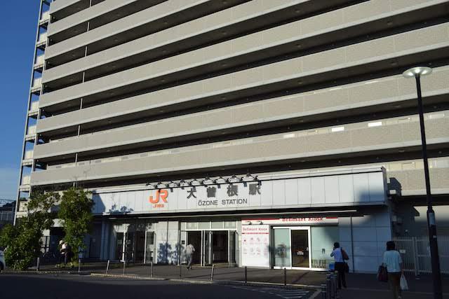 上部はマンションになっているJR大曽根駅南口駅舎
