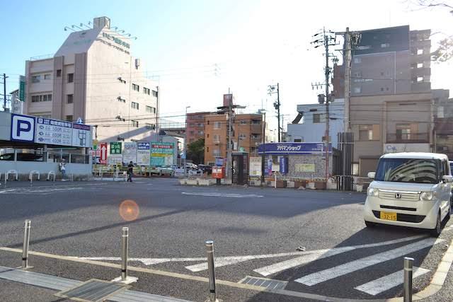 JR大曽根駅南口前の自家用車送迎用ロータリー