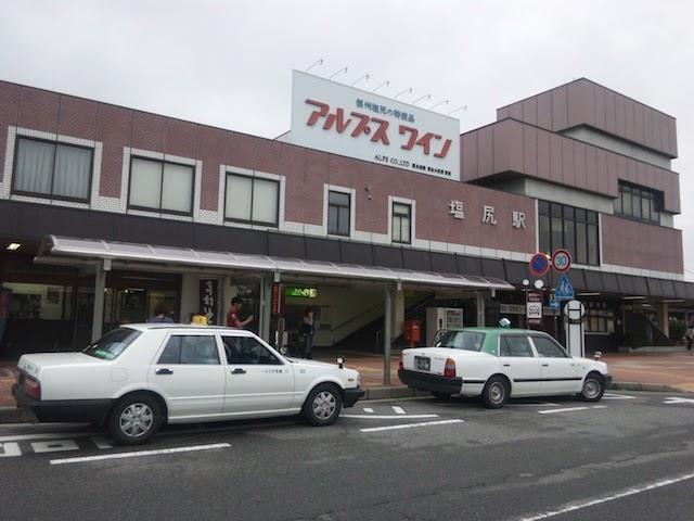 リニューアル前の塩尻駅東口駅舎(2011年8月撮影)