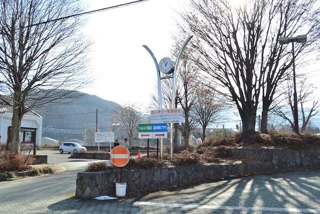 旧塩尻駅前のロータリー跡地