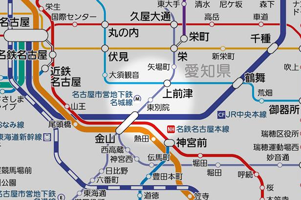 東別院の路線図