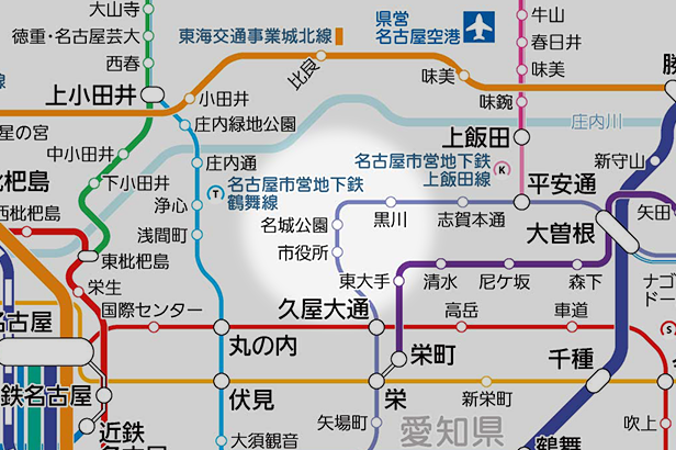 名城公園の路線図