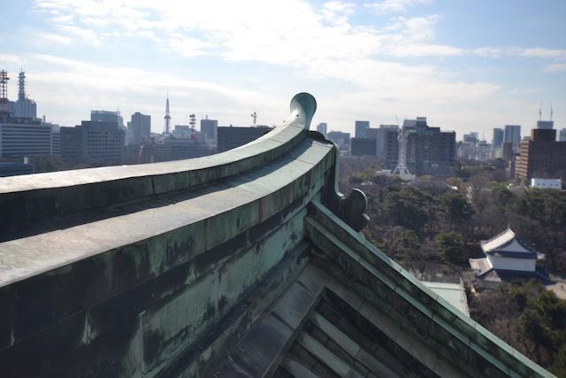 名古屋城天守閣展望室から南(栄・名古屋テレビ塔方向)を望む