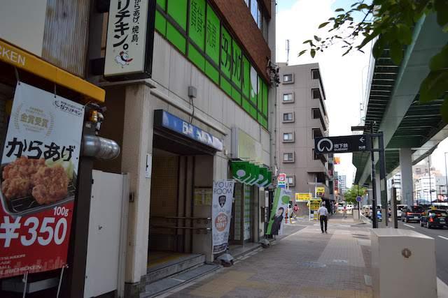上小田井方面行ホームの南端につながる浄心駅4番出入口