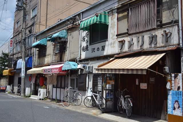 古き良き名古屋の面影を残す浄心寺近くの長屋の商店