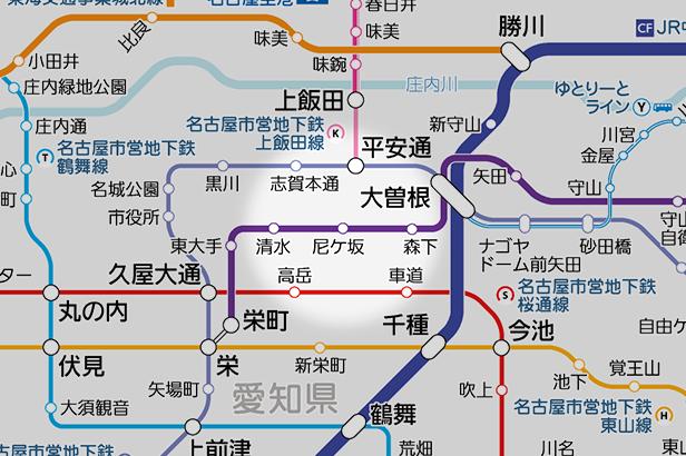 尼ケ坂の路線図
