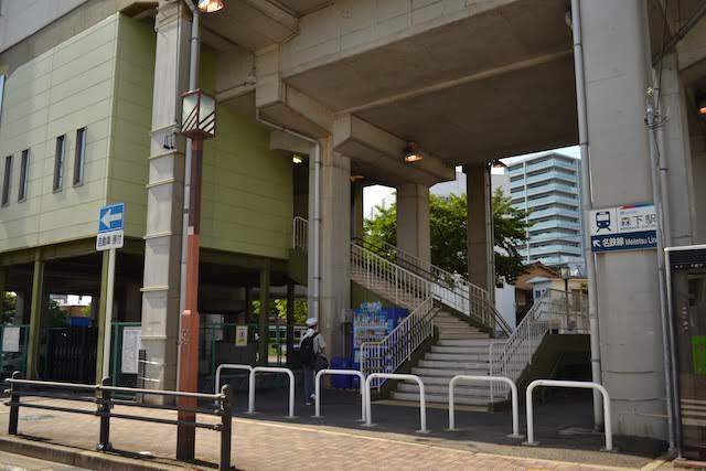 高架駅の名鉄瀬戸線森下駅の利用は階段のみ