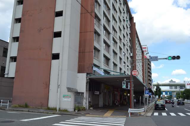 黒川駅と黒川バスターミナルを内包する名古屋市営黒川住宅