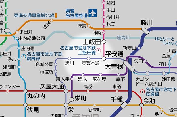 志賀本通の路線図