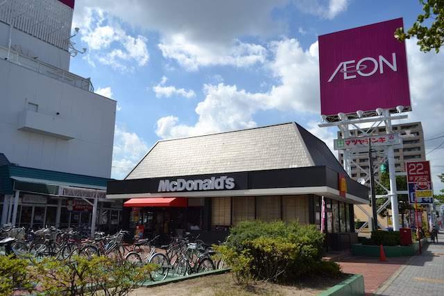 イオン入口前にある「マクドナルド イオン上飯田店」