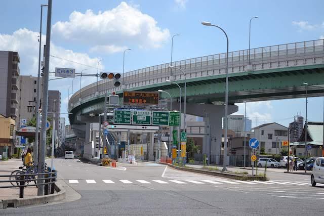 北上してきた名古屋高速6号清須線は庄内通出入口から進路を西の清須方向に