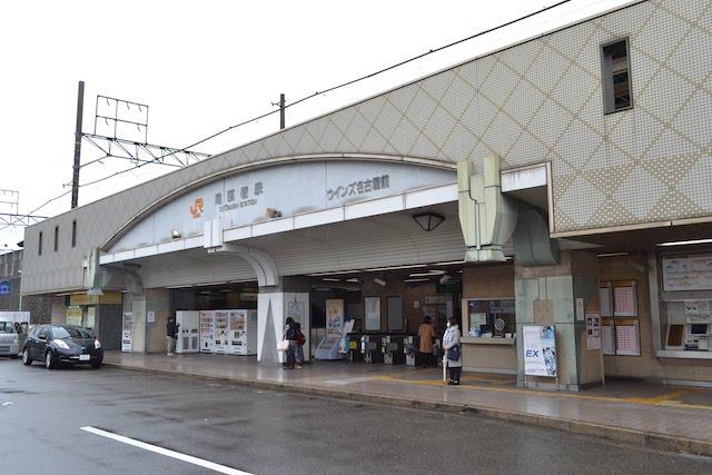 「ウインズ名古屋前」と標記された尾頭橋駅の駅舎
