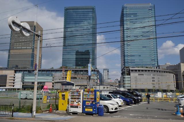 新梅田シティ側から望むうめきた・グランフロント大阪方面