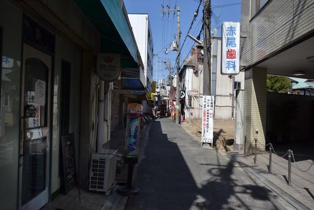 商店街から少し離れた千林の街並み