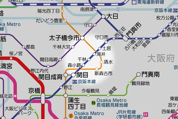 千林の路線図