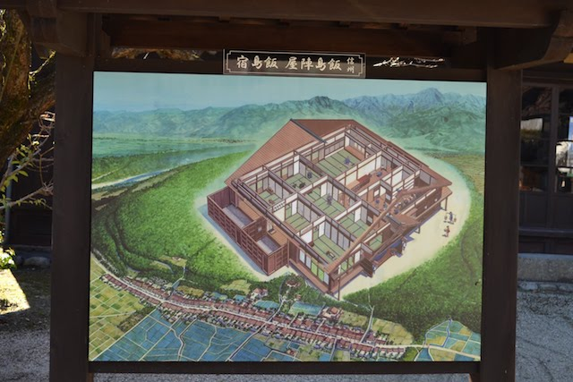 かつての飯島陣屋、飯島宿の鳥瞰図