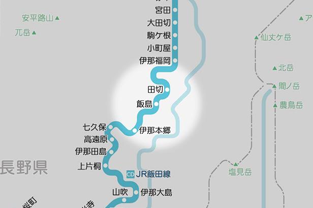 飯島の路線図