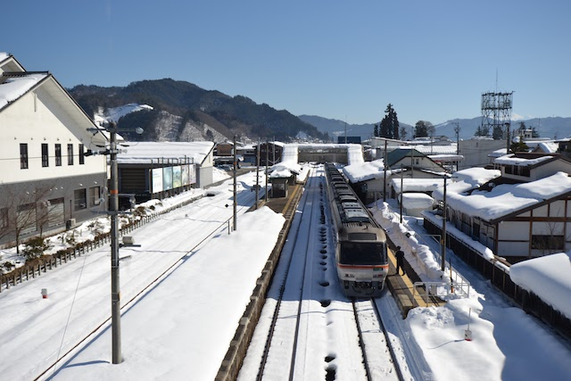 「君の名は。」で瀧くんたちが飛騨古川駅に到着する有名なシーンに近い