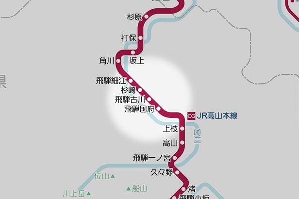 飛騨古川の路線図