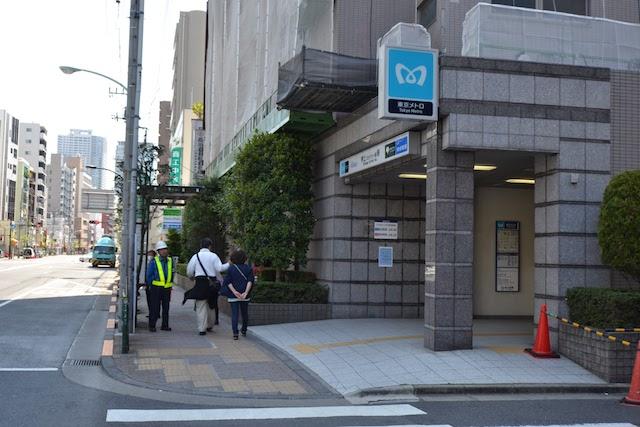 四ツ目通り沿いの押上駅B2出口