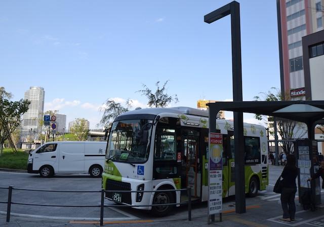 押上駅ロータリーに乗り入れる墨田区内循環バス