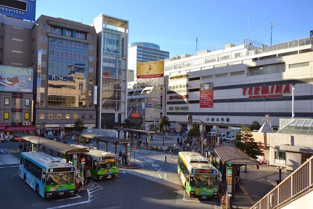 錦糸町駅南口の都営バスのりば
