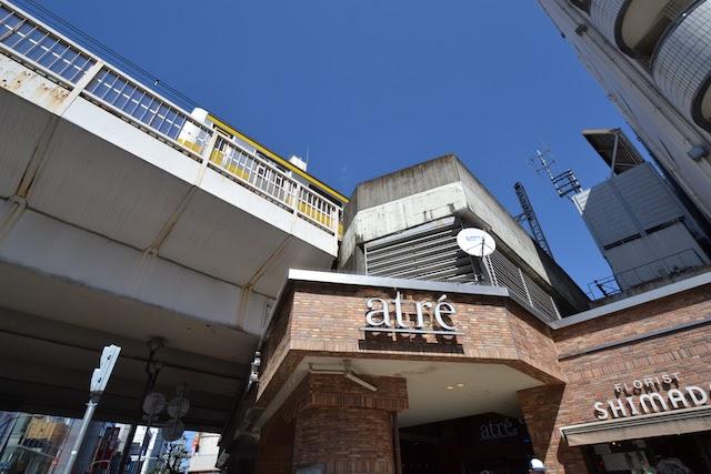 「アトレ吉祥寺」の西の端はJRののホーム先端と同じ位置