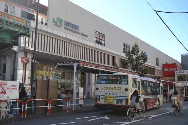 西荻窪駅北口バスのりばと「西友西荻窪店」