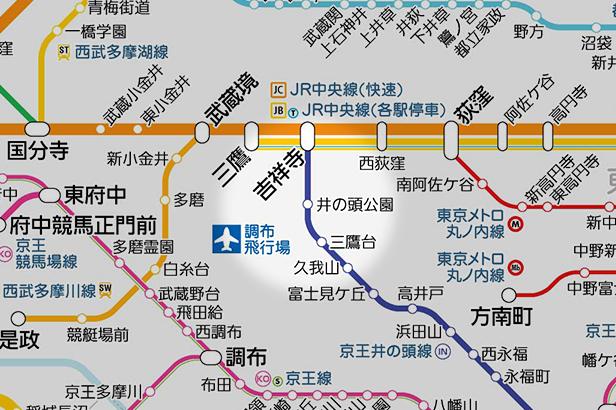 井の頭公園の路線図
