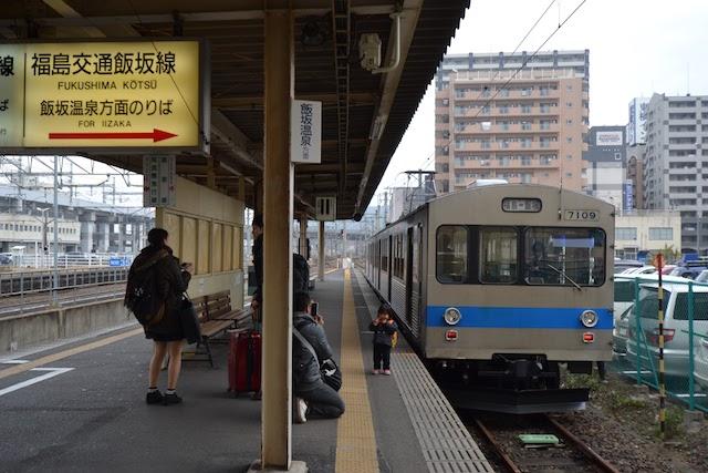 福島駅の阿武隈急行、福島交通飯坂線共用ホーム