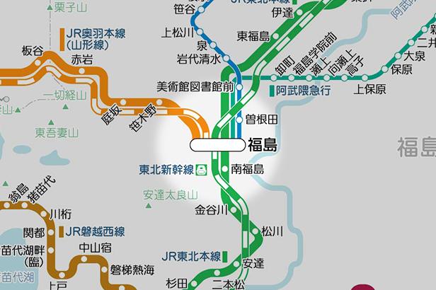 福島(福島県)の路線図