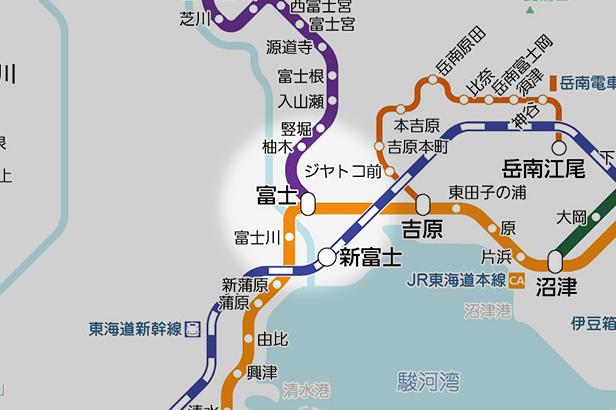 富士の路線図