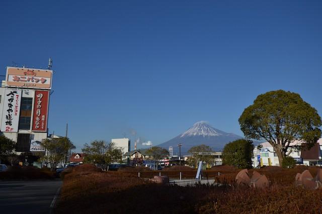 新富士駅からの富士山の眺望