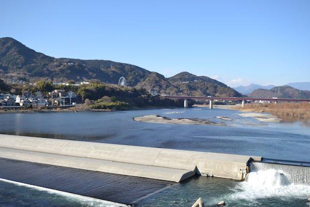 旧東海道に架かる富士川橋
