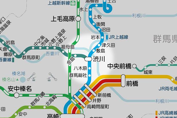 渋川の路線図