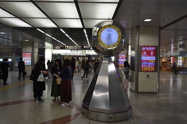 名古屋駅新幹線改札前の待ち合わせ場所「銀の時計」