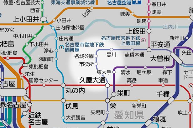 市役所の路線図