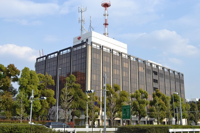 名古屋城三の丸にある中日新聞社本社ビル