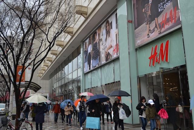 松坂屋名古屋店南館に入るファストファッションブランド「H&M名古屋松坂屋店」